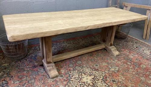 French Bleached Oak Farmhouse Dining Table (1 of 15)