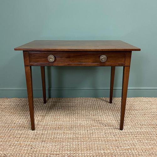 Fine Country Georgian Mahogany Antique Side / Writing Table (1 of 6)