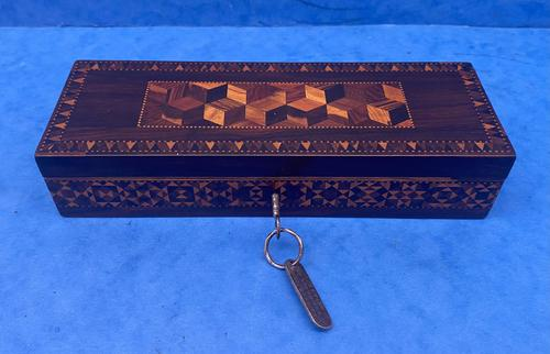 William IV Rosewood Glove Box with Stick Ware & Tunbridge Ware (1 of 14)