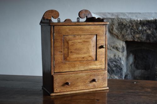 Small Rustic Antique Oak Wall Cupboard (1 of 10)