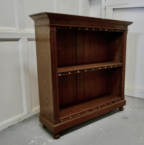 Arts & Crafts Open Oak Bookcase (1 of 5)