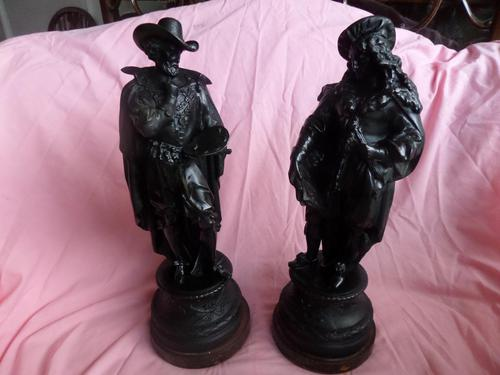 Fine Pair of French Spelter Figures c.1870 (1 of 4)