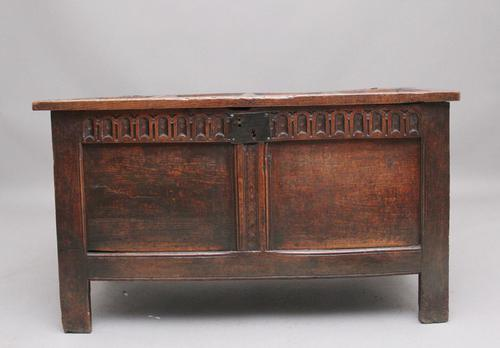 17th Century Oak Coffer with Four Panel Top (1 of 10)