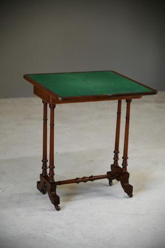 Victorian Mahogany Card Table (1 of 8)
