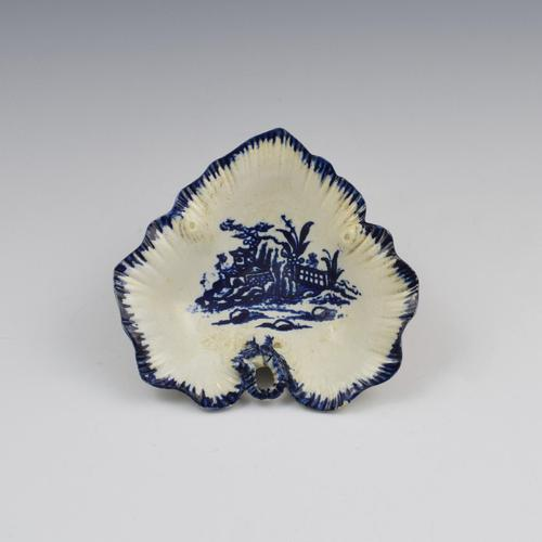 Rare Liverpool Porcelain John Pennington Leaf Tray Pickle Dish (1 of 9)