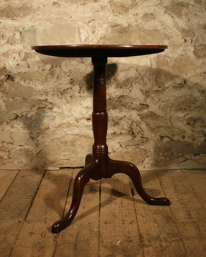 Small Oak Tripod Table (1 of 6)