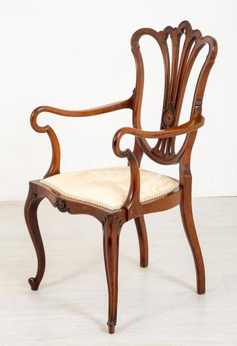 Pretty Mahogany Open Carver Chair (1 of 8)