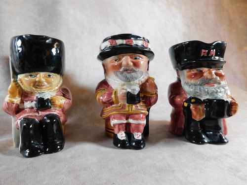 Set of Three Shorter & Sons  Hand Painted Toby Jugs (1 of 5)