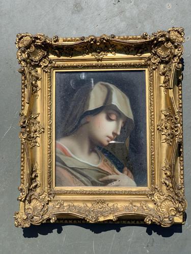 Verre Eglomise Portrait of Madonna (1 of 12)