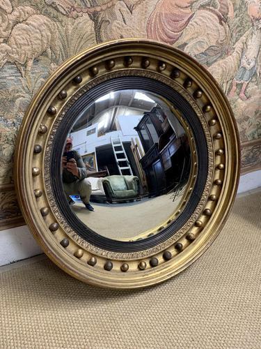 Large Gilt Regency Convex Mirror (1 of 4)