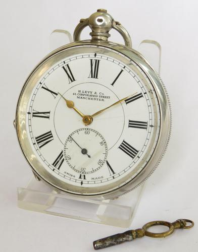Antique Silver Buren Pocket Watch, 1907 (1 of 5)