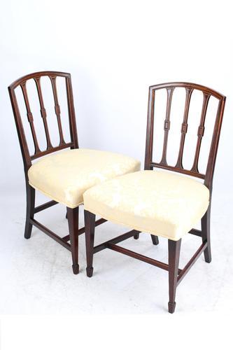 Pair of Georgian Mahogany Side Chairs (1 of 13)