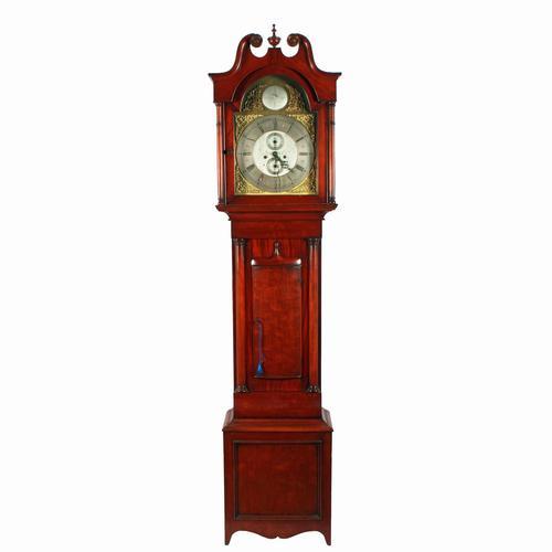 Victorian Mahogany Grandfather Clock (1 of 8)