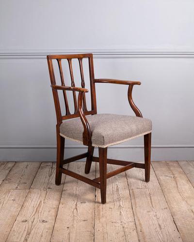 George III Elm Carver Chair (1 of 9)