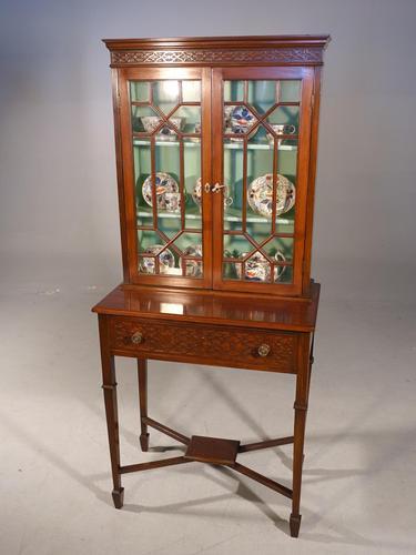 Elegant Edwardian Period Display Cabinet / Bookcase (1 of 5)