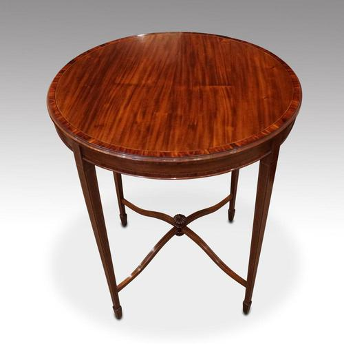 Edwardian Inlaid Circular Mahogany Occasional Table (1 of 6)