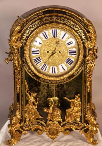 Massive Buele Mantle Clock Double Fusee (1 of 17)