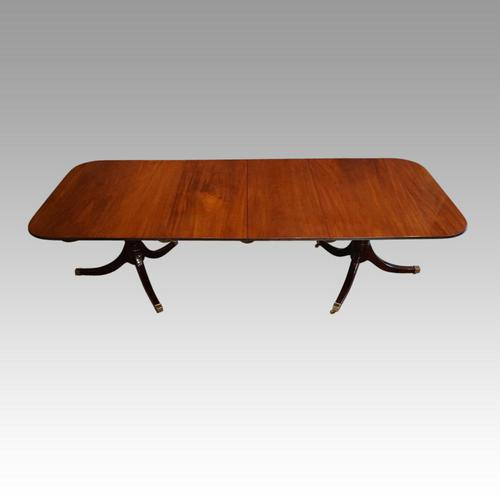 George V Mahogany Twin Pillar Dining Table (1 of 9)