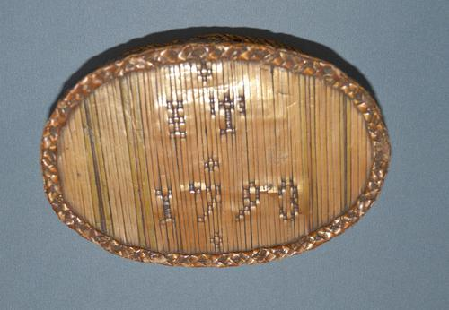 Late C18th French straw-work oval snuff-box (1 of 5)