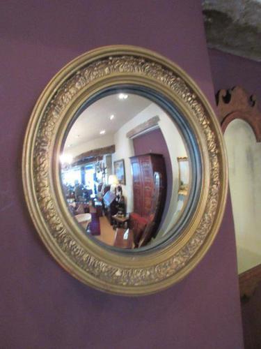 Antique Plaster Gilt Convex Wall Mirror (1 of 7)