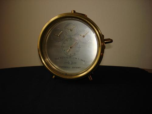 Turners Patent Brass Cased Homing Pigeon Clock (1 of 5)
