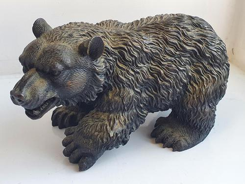 Large Detailed Vintage Bronze Grizzly Bear c1940s (1 of 10)