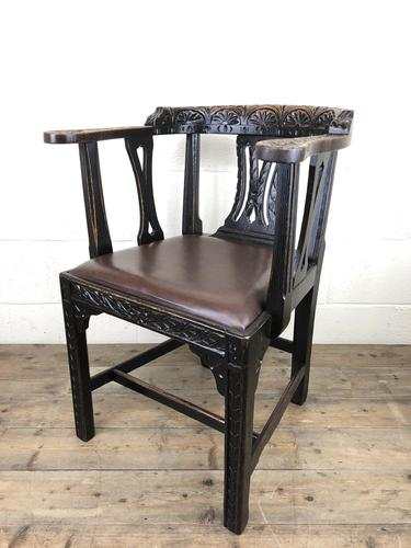 Victorian Carved Oak Gothic Armchair (M-1223) (1 of 12)