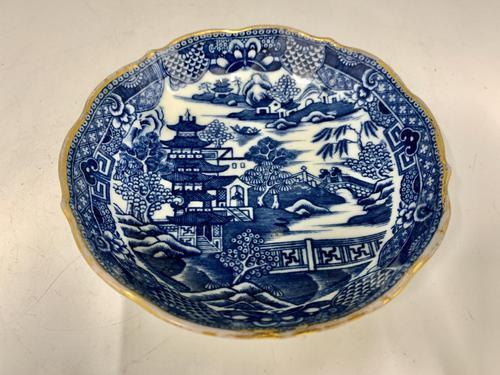 Antique Caughley Porcelain Deep Saucer c.1795 (1 of 6)