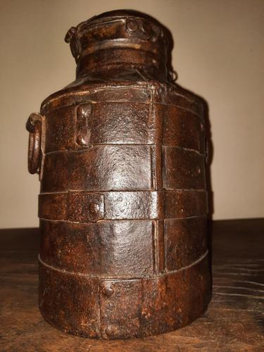 18th Century Iron Banded & Riveted Cream Can (1 of 13)