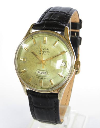 Gents 1960s Avia Daytyme Wrist Watch (1 of 5)