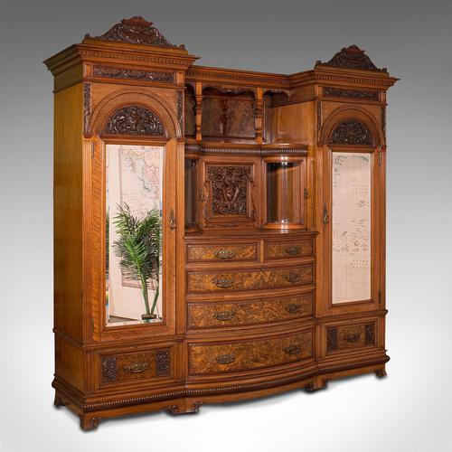 Large Fine Antique Wardrobe Compactum, English, Walnut, Gillow & Co, Victorian (1 of 12)
