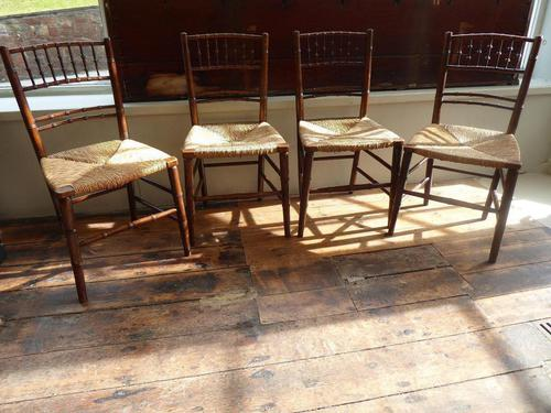 Four Faux Bamboo Chairs (1 of 5)