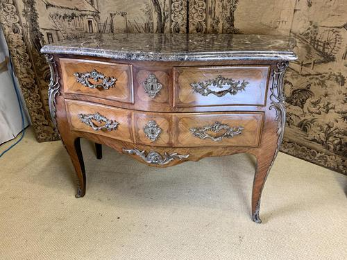 19th Century French Inlaid Commode with Marble Top (1 of 6)