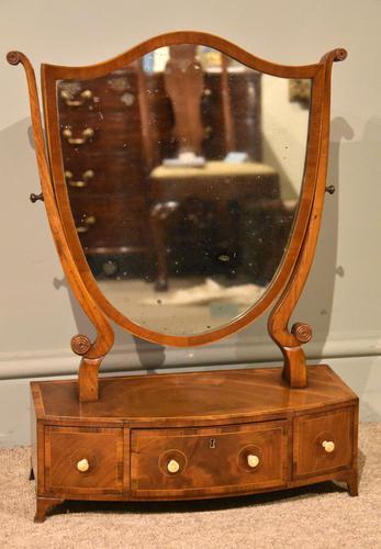 George III Hepplewhite Design Dressing Mirror (1 of 5)