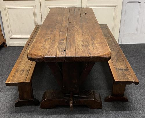 Rustic Oak Farmhouse Table & Bench Set (1 of 29)