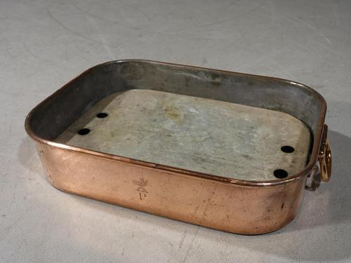 Good George III Period Rectangular Poaching Dish (1 of 4)