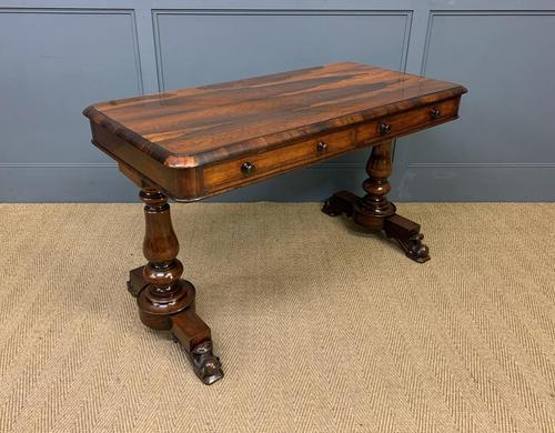 Early Victorian Rosewood Library Table (1 of 15)