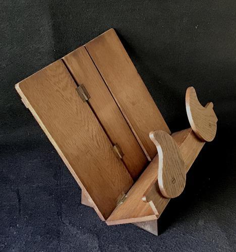 Arts & Crafts Oak Campaign Folding Book Stand (1 of 6)