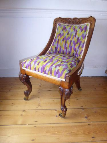 19thc Slipper Chair (1 of 7)