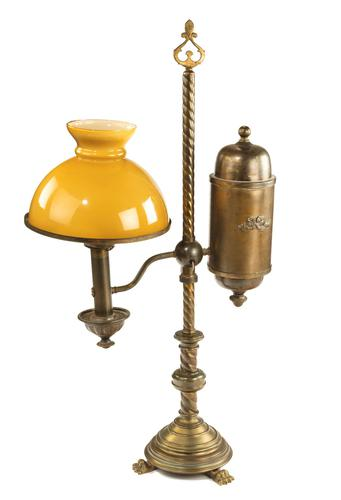 Late 19th Century Argand Table Oil Lamp (1 of 3)