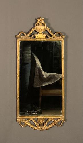 Edwardian Adam's Style Giltwood & Gesso Mirror (1 of 10)