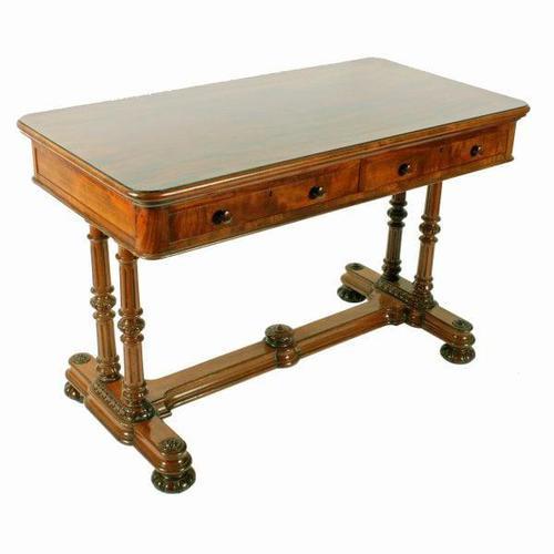 Mid 19th Century Mahogany Library Table (1 of 8)