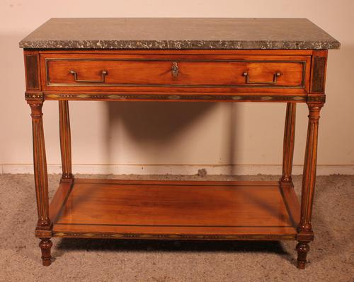 Louis XVI Console in Cherrywood, 18th Century Stamped LM Pluvinet (1 of 15)