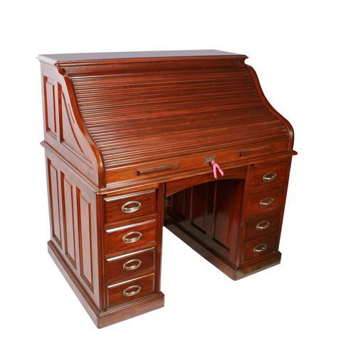 English Mahogany Roll Top Desk (1 of 9)