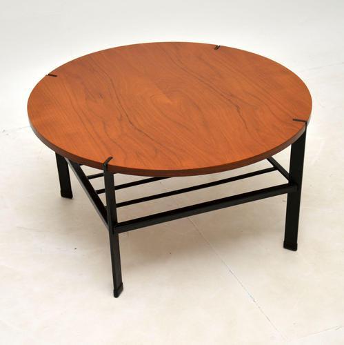 1960's Vintage Teak & Steel Coffee Table (1 of 8)