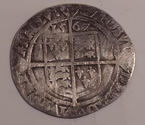 Elizabeth I, Silver Six Pence, Dated 1567 (1 of 2)