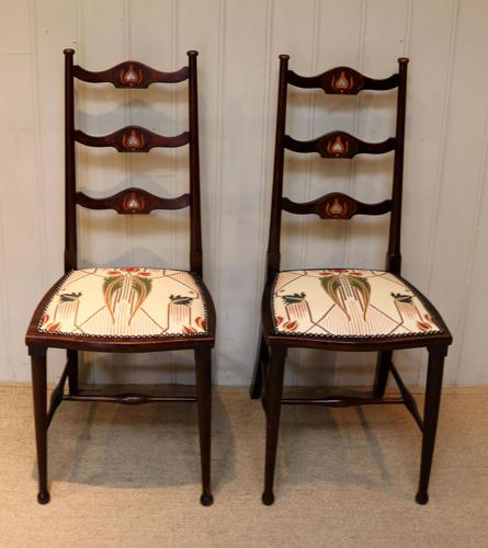 Pair of Beechwood Art Nouveau Chairs (1 of 10)