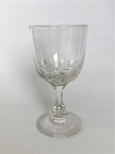 Imposing Victorian Cut Glass Wine Goblet (1 of 4)