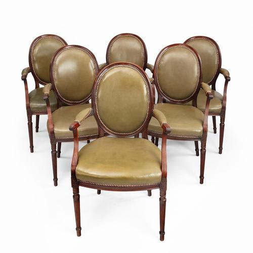 Six Edwardian Mahogany Chairs by Gill & Reigate (1 of 7)