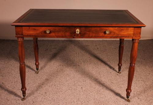 Writing Desk Stamped Deman Early 19th Century In Mahogany (1 of 11)